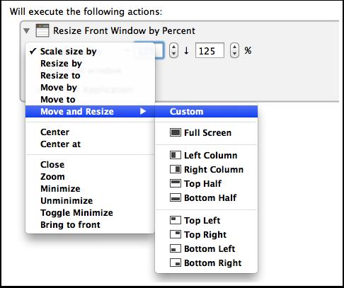 Select a Custom Preset Size